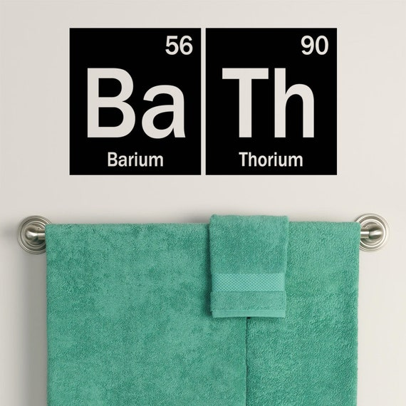 Https Www Etsy Com Listing 220036691 Periodic Table Bath Decal Element Decor