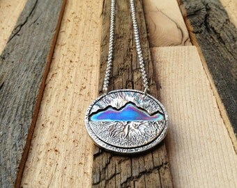 Reticulated Mountain Range Necklace in Sterling Silver