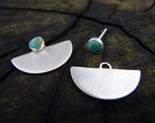 Little Turquoise Warrior 3-in-1 Silver Earrings