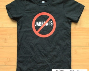 No Jibroni's Toddler Pro wrestling Shirt American Apparel 2T or 4T