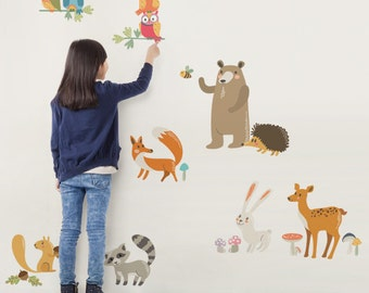 Woodland Nursery, Wall Decals Nursery, Owl Nursery Decor, Tree Wall Decal, Baby Nursery, Peel and Stick Stickers