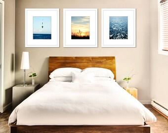 Nautical wall art, set of 3 prints, coastal wall decor, gallery wall, beach decor, wall art photos, set of 3 photos, nautical art, ocean art