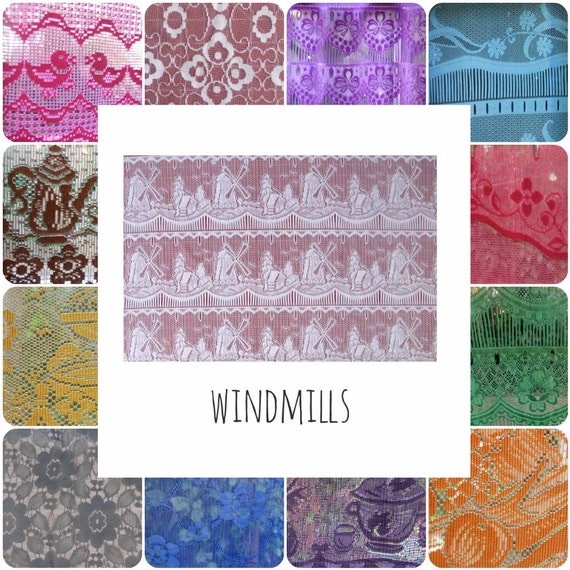 Kitchen Lace Window Curtains Pair Custom Coloured Panels 36