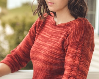 KNITTING PATTERN PDF file for Sock yarn weight sweater-Rocoto