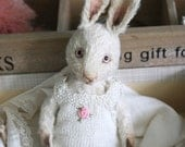 Sewing Pattern for bunny faith,  well aged little bunny - Instant Download.