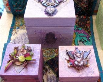 buddha winged heart box