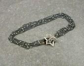 Multi Strand Bracelet- Sterling Silver Bracelet- Rose Gold Bracelet- Playful Jewelry- Rose Gold Plated- Silver Strand Bracelet- Celestial