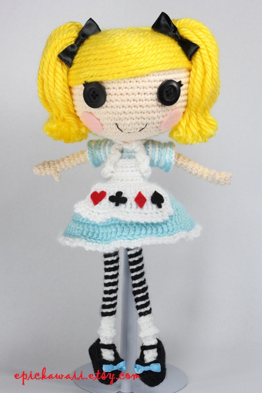 PATTERN: Alice in Wonderland Crochet Amigurumi Doll