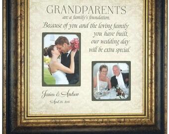 Grandparents Gift, Wedding Thank You Gift, Nana, Papa, Grandma, Grandpa, Grandmother, Grandfather, Wedding Gift for Grandparents, 16x16