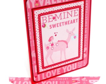 Valentine's Day Card with Matching Embellished Envelope