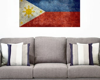 National Flag of the Philippines Wall Sticker Decal by Bruce Stanfield
