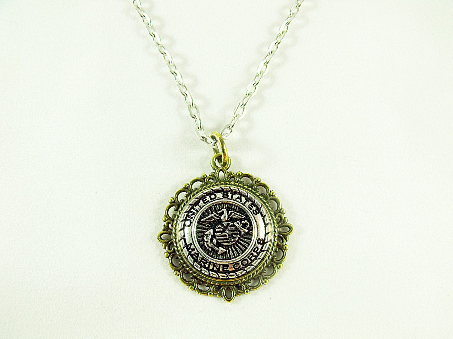 marine corps jewelry pendant necklace marine corps s or s 756