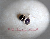 Purple Amethyst Gemstone Stud Post Earrings