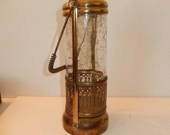 Musical Decanter-Tilso windup 1960's Bar decor-Vintage barware-Gold Swirl on glass-How Dry I Am-mid century barware- man cave decor