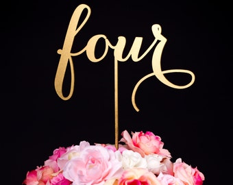 Wedding Table Numbers or Cake Toppers - Soirée Collection