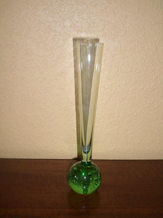 Bubble Bud Vase Green Vintage Green Tint
