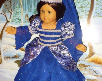 Princess Costume fits American Girl Dolls Midnight Blue