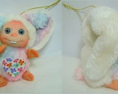 Light Cream Sweet Funny  Bunny  Cute Baby Doll, Decoration for home, Easter gift by Larysa Champagne made to order