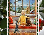 "Christmas greeting Cards sets , Handmade, detachable Art Photo, ""Told Ya Santa Is Coming Tonight"" by Laurie Shanholtzer"
