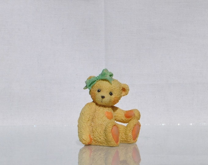 "Vintage Cherished Teddies,""Jacki"", 1991, Priscilla Hillman, Collectible Figurine, Enesco,Teddy Bear Figurine, Vintage Figurine, Teddy Bear"