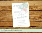Succulent Bridal Invitation, Bridal Shower,