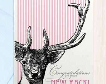 Funny Card - Boobs - Congrats New Rack - Greeting Card
