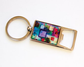 Key ring, Bottle Opener, Keyring bottle opener, Soda Bottle Opener, key chain, Abstract Design, Keychain bottle opener (4633)
