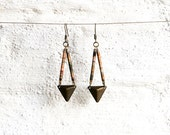 SALE - Geometric Dangle Earrings, Ethnic Inspired