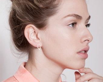 Geometric Earrings, Design Earrings, Gold Stud Earrings, Gold Plated Earrings, Delicate Stud Earrings, Dainty Gold Earrings, Gift For Her