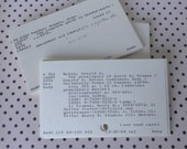 CLEARANCE - DEEPLY DISCOUNTED Plus Free Shipping!  500 Vintage Library Catalog Index Cards, Library of Congress Classification