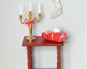 Dollhouse Christmas stocking - Cream/Beige -  1:12 scale Miniature (HH10)