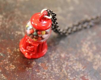 Miniature Gumball Machine Pendant