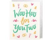 Woo Hoo for You Two Wedding Card