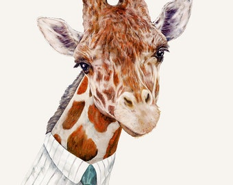 Mr GIRAFFE Fine Art Print, Giclee Wall Art, By Animal Crew