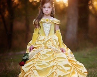 Belle Princess Gown Costume in Yellow