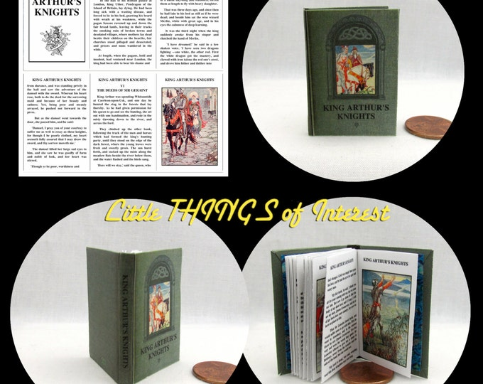 KING ARTHUR and His KNIGHTS 1:6 Scale Readable Illustrated Book bjd Momoko Barbie
