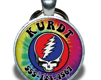 Pet ID Tag - Grateful Dead Skull *Inspired*