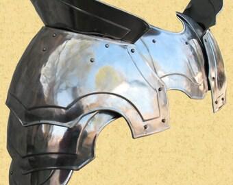 "Larp, fantasy, medieval shoulders (pauldrons) ""Warlord"": a pair"