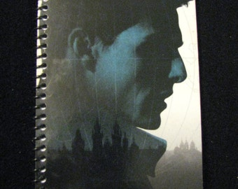 MISSION IMPOSSIBLE (1996) Repurposed Original VHS Sleeve To Unique Journal, Choose Lined Or Unlined Paper, Sketch Book - Great Gift Idea