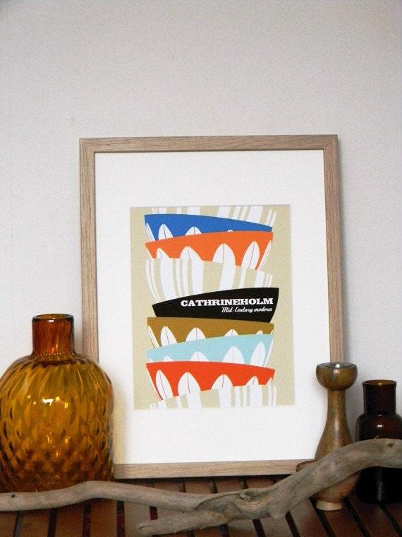 Vintage Wall Art For The Kitchen : Kitchen decor retro art utensil wall