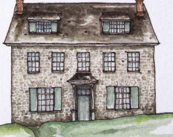 Jane Austen Barton Cottage Greeting Card - Know Your Own Happiness Sense and Sensibility Quote Call It Hope Family Friend Watercolor Card