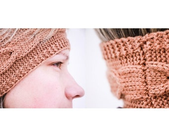 Knitted Headband , Brown headband , ready to ship , handmade