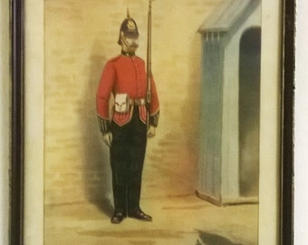 Original Victorian Military Print 1889 by G.D. Giles