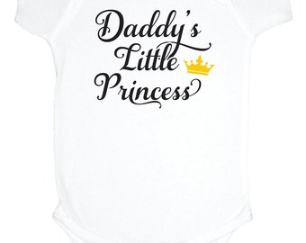 Daddy's Little Princess baby bodysuit, one piece, new dad, princess baby shower gift under 20, gender reveal, baby girl clothes, new baby