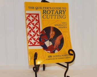 The Quilter's Guide To Rotary Cutting 1001 Speed-Cut Shapes (c. 1991) by Donna Poster, Paperback Book, Quilting, Sewing, Gift Ideas