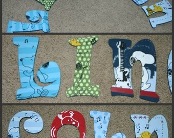 Hip Hop Snoopy - Hand Painted Letters - Name Letters - Wood Letter - Hip Hop Snoopy Letters - Painted Name Letters - Snoopy Name Letters