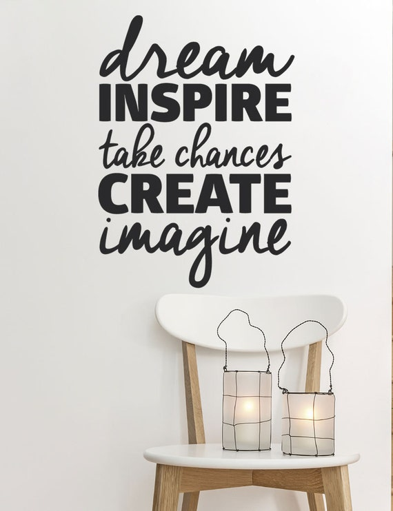 Motivational quote wall decal for home bedroom office girl ...