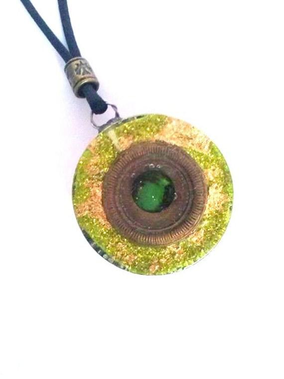 orgonite pendant by orgonitheka on etsy