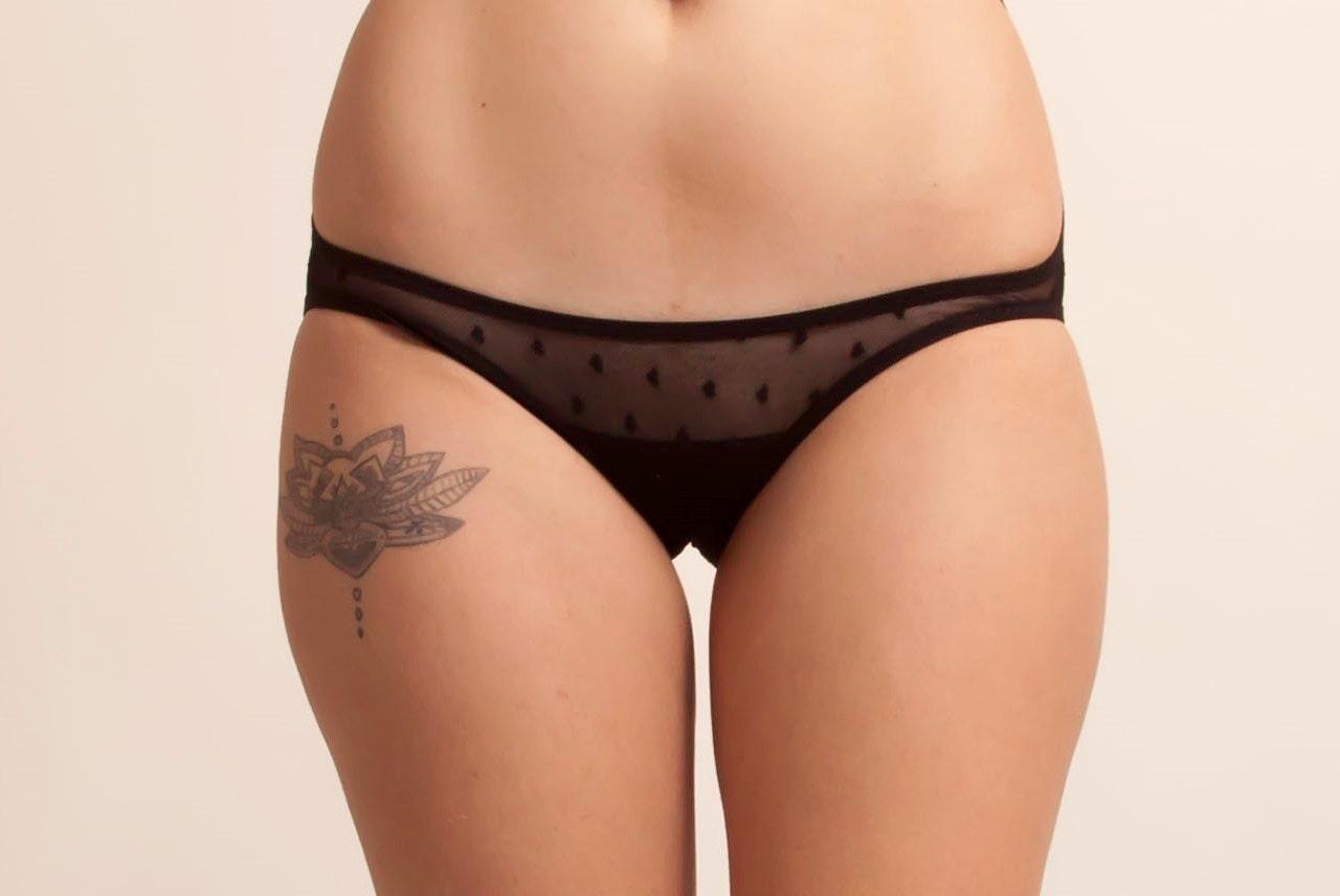 Heart Mesh Bikini Panties See Through Mesh by FilkinsLingerie