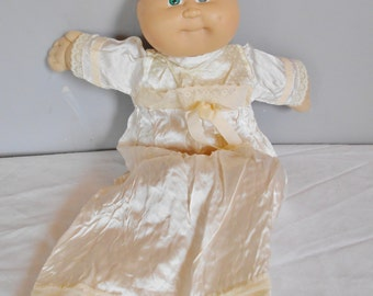 Cabbage Patch Kid  Preemie in Vintage handmade nightgown